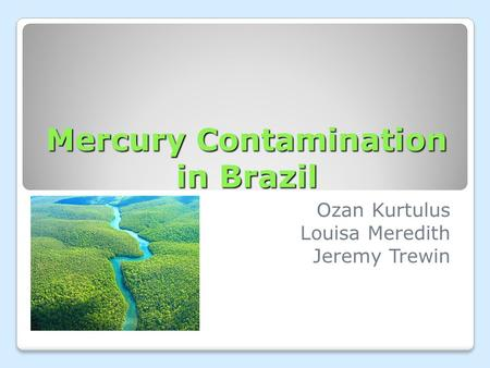 Mercury Contamination in Brazil