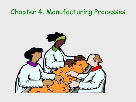 Chapter 4: Manufacturing Processes. Learning Objectives How production processes are organized Trade-offs to be considered when designing a production.