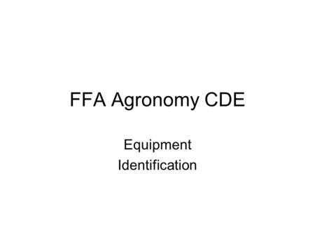 FFA Agronomy CDE Equipment Identification. Anemometer.