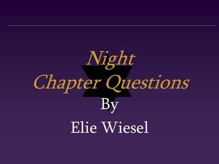 'Night' by Elie Wiesel: Summary and Analysis
