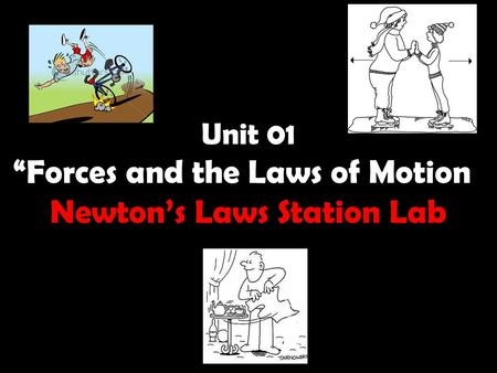 "Unit 01 ""Forces and the Laws of Motion"" Newton's Laws Station Lab"