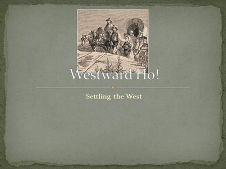 Settling the West. The government passed a law called the Homestead Act. (see textbook page 298 for explanation of this law) The government also.