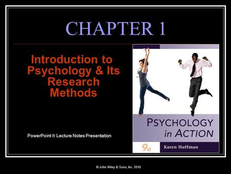 Introduction to Psychology & Its Research Methods