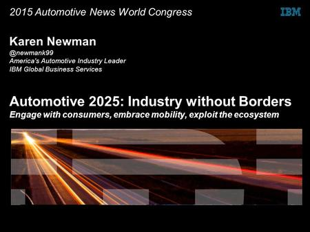 2015 Automotive News World Congress