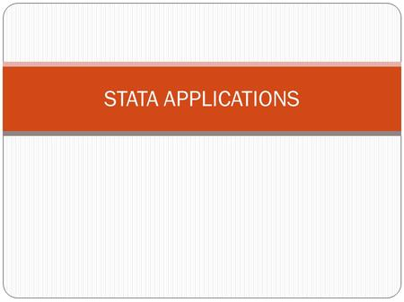 STATA APPLICATIONS. Task 1 last year- Computer assignment The data set busind.dta contains information on Gross National Income (GNI) per capita and the.