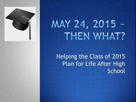 Helping the Class of 2015 Plan for Life After High School.