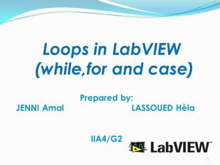 Loops in LabVIEW (while,for and case)