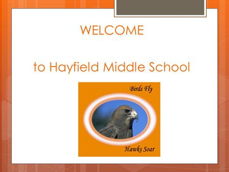 WELCOME to Hayfield Middle School. OBJECTIVES LEARN about differences between elementary and middle school LEARN about elective classes and CHOOSE YOUR.