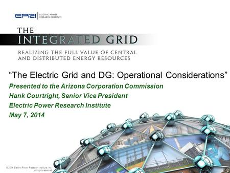 """The Electric Grid and DG: Operational Considerations"""