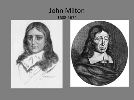 John Milton 1608-1674. Paradise Lost First ten-book edition.