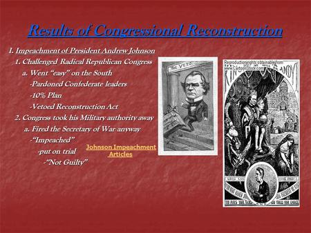 Results of Congressional Reconstruction