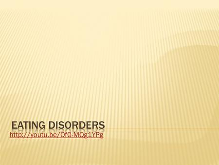 Eating disorders are real, complex, and devastating conditions that can have serious consequences for health, productivity,