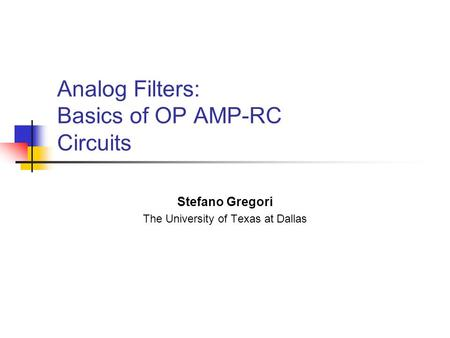 analog electronics basic op amp applications