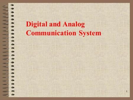 Digital and Analog Communication System