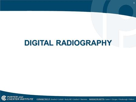 "1 DIGITAL RADIOGRAPHY. 2 Digital Radiography A ""filmless"" imaging system introduced in 1987 Digital radiography uses an electronic sensor, instead of."