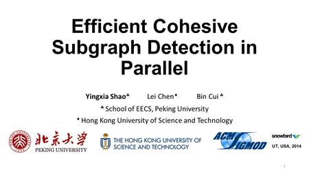 Efficient Cohesive Subgraph Detection in Parallel