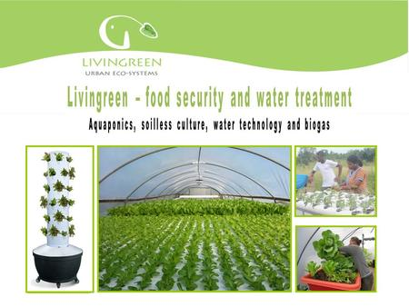 LivinGreen: table of contents LivinGreen vision What is aquaponics? Roof top and backyard systems 3rd world systems and projects Indoor systems Educational.