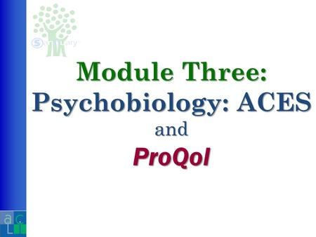 Module Three: Psychobiology: ACES and ProQol. A collaborative effort of Kaiser Permanente and The Centers for Disease Control Vincent J. Felitti, M.D.