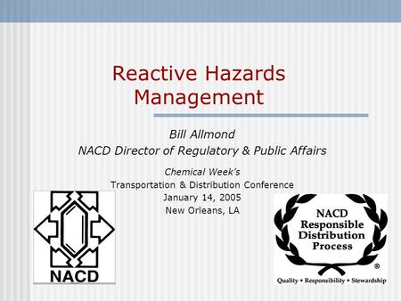 Reactive Hazards Management