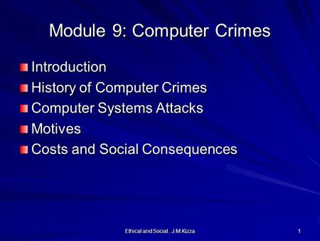 an introduction to the history of computer crimes Investigative uses of technology: devices, tools,  computer crimes division  introduction.