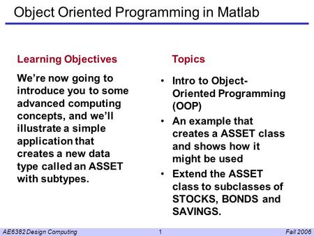 matlab object oriented programming pdf