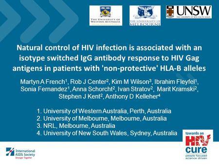 Natural control of HIV infection is associated with an isotype switched IgG antibody response to HIV Gag antigens in patients with 'non-protective' HLA-B.