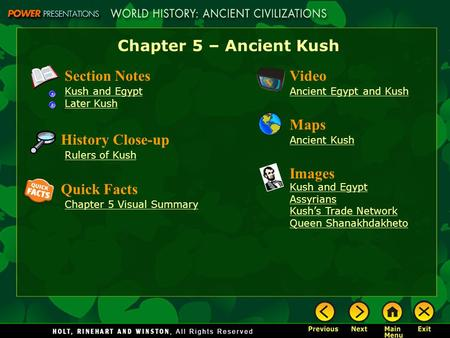 Chapter 5 – Ancient Kush Section Notes Video Maps History Close-up