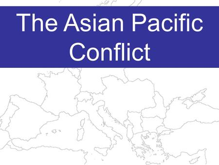 The Asian Pacific Conflict Japan is a densely populated and mountainous archipelago.