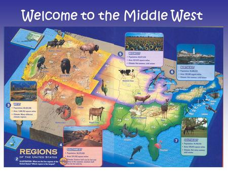 Welcome to the Middle West. Characteristics of the Middle West History: Abraham Lincoln lived in Indiana and considered Illinois his home. He is buried.
