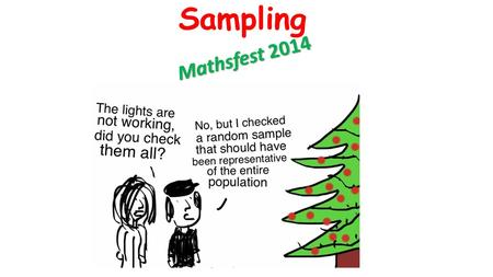 Sampling Mathsfest 2014. Why Sample? Jan8, 2003 Air Midwest Flight 5481 from Douglas International Airport in North Carolina stalled after take off, crashed.