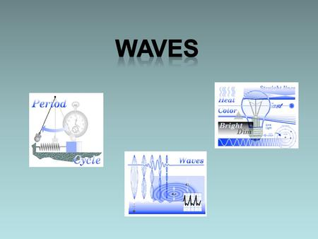 Waves There are two kinds of motion: Harmonic motion- Movement that repeats over and over again. Linear motion- Moving from one place to another (We have.
