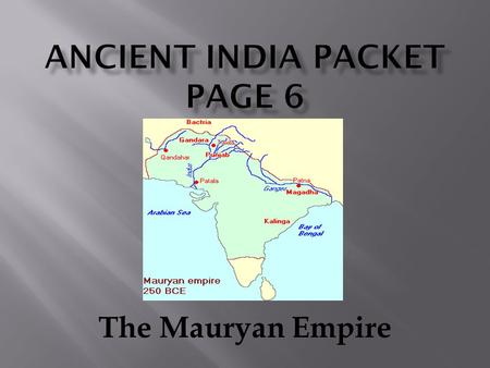 Ancient India Packet Page 6