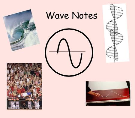 Wave Notes. WAVES What are Waves? Wave - traveling disturbance that carries energy from one place to another Waves carry energy, NOT matter!