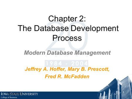 Chapter 2: The Database Development Process