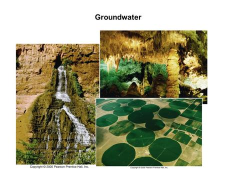 Groundwater. Water on Earth Artesian and Non-flowing (pumping) Wells.