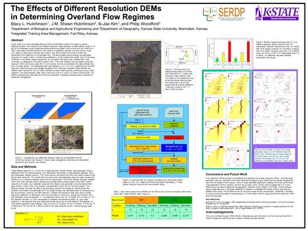 The Effects of Different Resolution DEMs in Determining Overland Flow Regimes Stacy L. Hutchinson 1, J.M. Shawn Hutchinson 2, Ik-Jae Kim 1, and Philip.