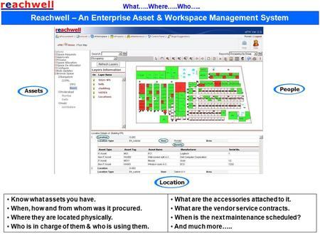 Reachwell – An Enterprise Asset & Workspace Management System