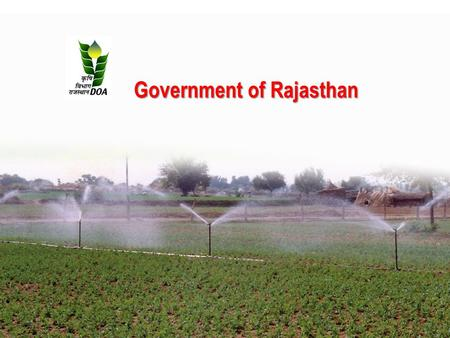 Government of Rajasthan. Reward Scheme for Recognizing Efforts of The Best Performing States in Food grain, Coarse Cereals, Rice, Pulses and Wheat Production.