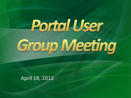 April 18, 2012. Updates Reminders Other Services.