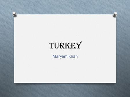 Turkey Maryam khan. GOVERNMENT O Government: Republicans O Branches: Executive = President (chief of state, head of government) O Legislative = Legislative--Grand.