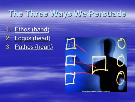 The Three Ways We Persuade