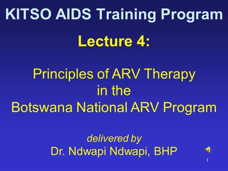 KITSO AIDS Training Program