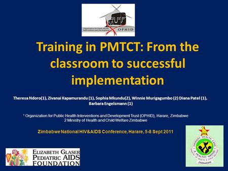 Training in PMTCT: From the classroom to successful implementation