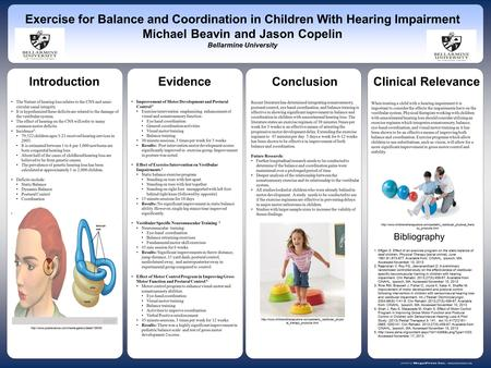 Www.postersession.com The Nature of hearing loss relates to the CNS and semi- circular canal integrity. It is hypothesized these deficits are related to.