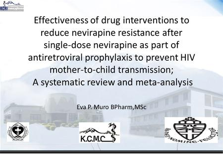 Effectiveness of drug interventions to reduce nevirapine resistance after single-dose nevirapine as part of antiretroviral prophylaxis to prevent HIV mother-to-child.