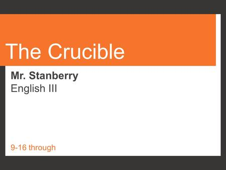 marriage through the crucible Discuss the portrayal of women by arthur miller in his play crucible  she represents devoted wife who values the constitution of good marriage and doesn't.