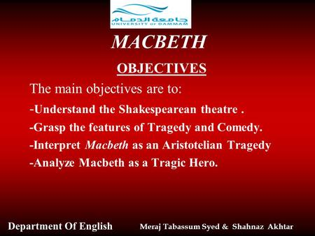 a literary analysis of macbeth by william shakespeare aristotelian tragedy