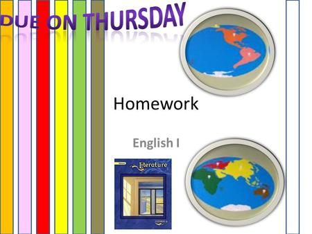 Homework English I. HOMEWORK Each Week USE YOUR GLENCO TEXT! (Assigned on Monday DUE on Thursday of the same week)  Bio – 3 Facts  Preview – 3 facts.