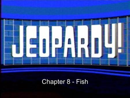 Chapter 8 - Fish. Nice body So many fish in the sea Dinner anyone? Is This Really Going to be on the Test?! 500 400 300 200 100 200 300 400 500 100 200.