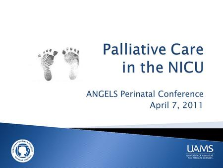 ANGELS Perinatal Conference April 7, 2011.  Background and definitions  Important aspects of palliative care services  Parents' perspectives  Practical.
